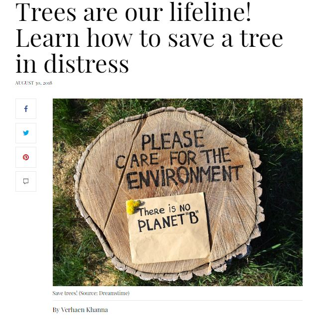 save trees in distress. Save tree save environment awareness program by NDNS